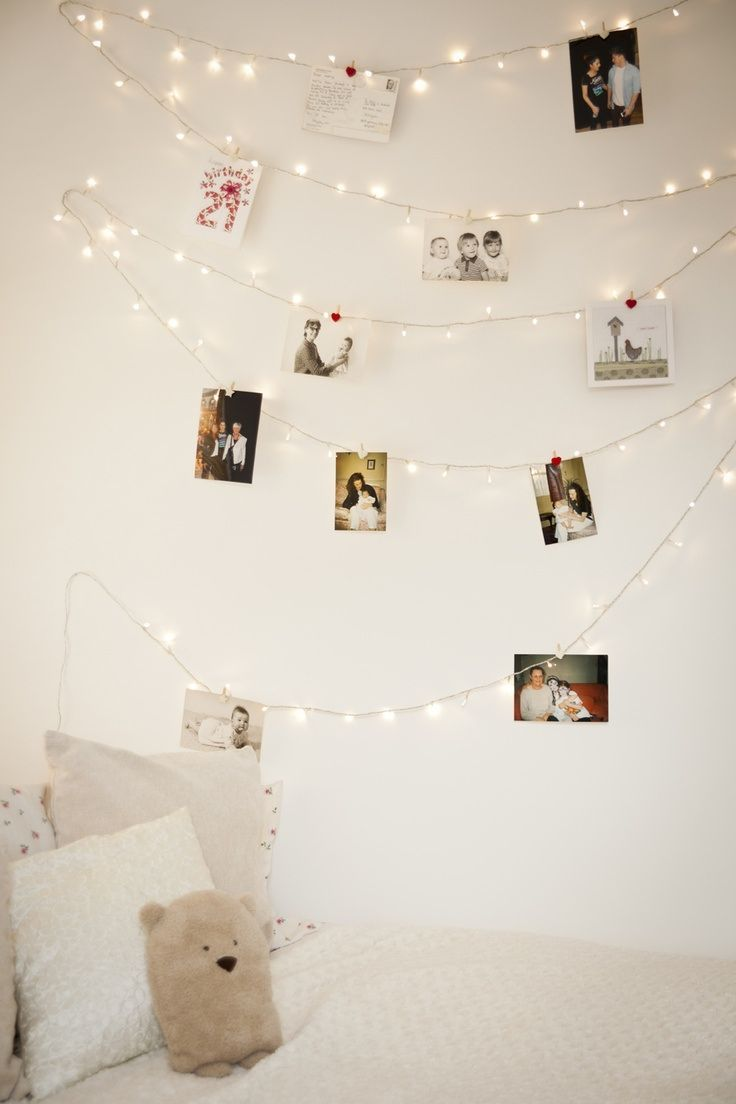 Great idea put pictures of passed away loved ones on wall to share in your christmas