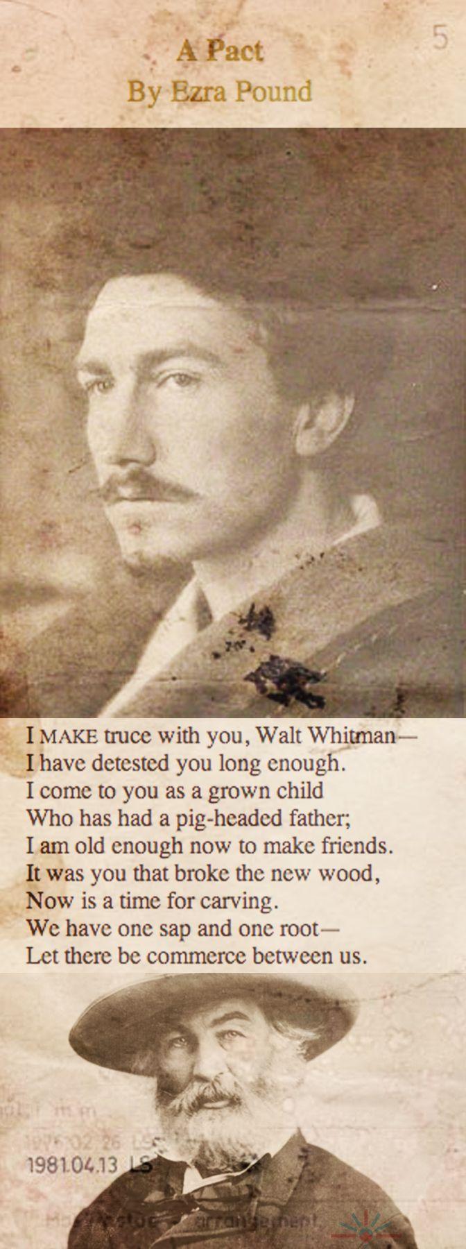 'A Pact' by Ezra Pound - a poem for Walt Whitman