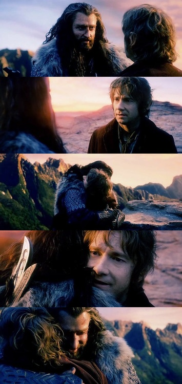 Thorin and Bilbo - one of my favorite scenes in the movie. I just love their friendship. <3