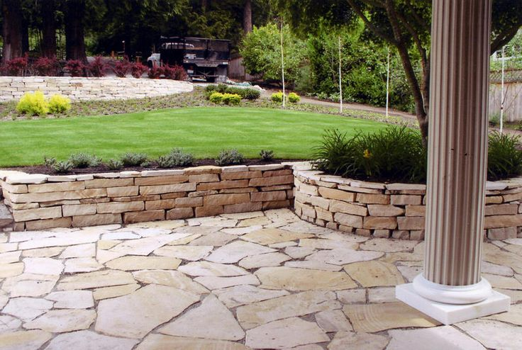 patio with retaining wall ideas   House   Pinterest on Patio Stone Wall Ideas id=69388