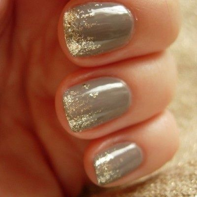 Gray Sparkle Manicure- Nailed It! 12 Nail Art Designs for Your Wedding Day