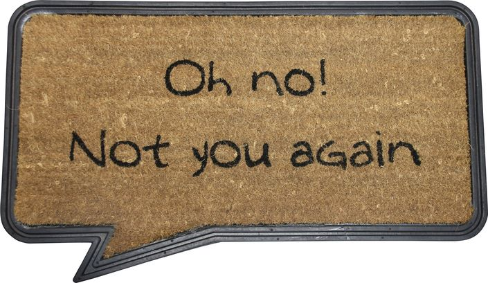 The Oh no! Doormat from Urban Barn is a unique home decor item. Urban Barn carries a variety of View All New and other  products furnishings.