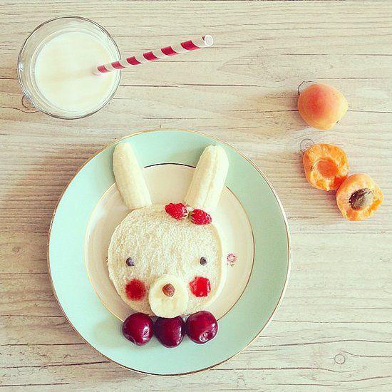 Bunny food art