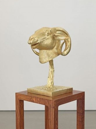Ai Weiwei, Circle of Animals Zodiac Heads Gold Ram, 2010. Courtesy the artist