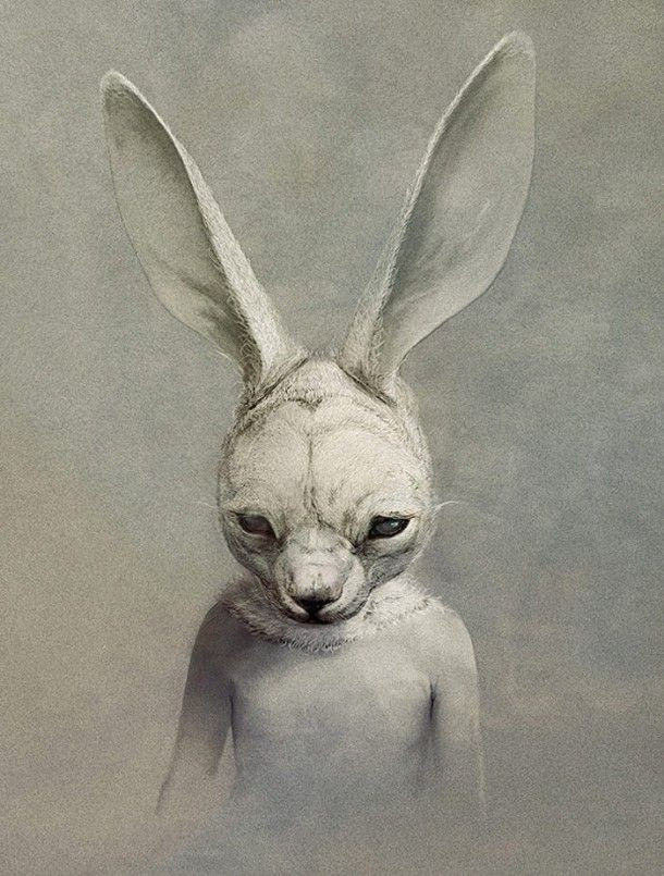 bunny by Ryohei Hase - So creepy but I like it for some reason