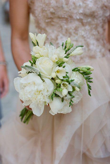 Southern Blue Celebrations White Cream Wedding Bouquets