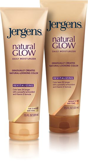 After winter, I've become unattractively pale. So to jumpstart my tanning I bought Jergens Natural Glow. Before bed, I shower, exfoliate, and apply. It's a little smelly, but the smell wears off by morning.