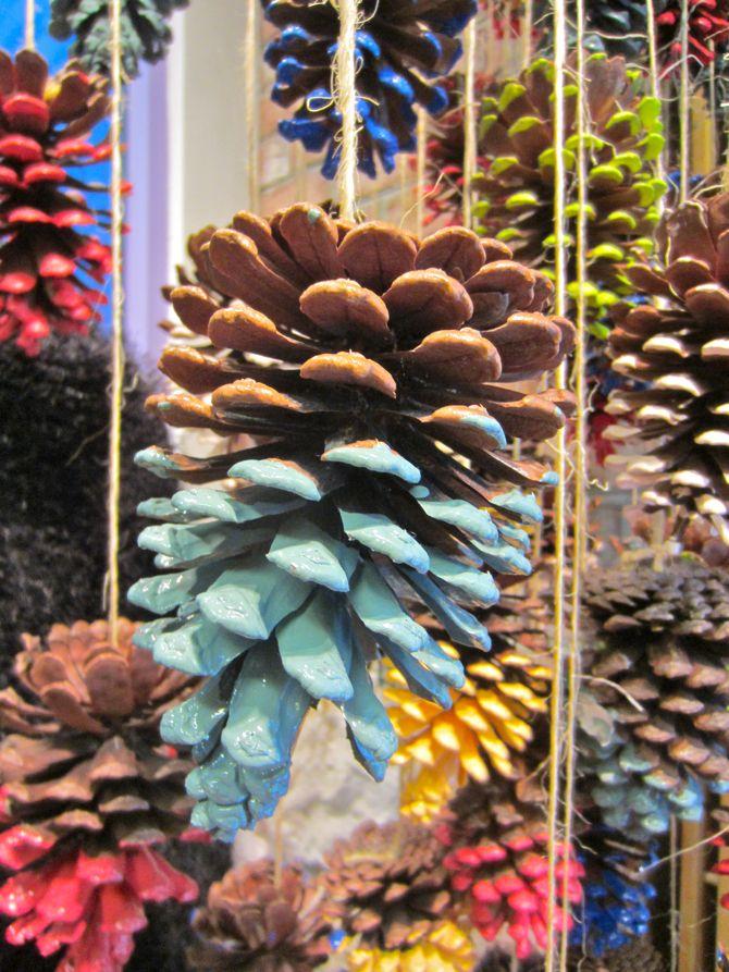 Ciseaux et Spice: Ciseaux Craft: Pinecone Idées de décoration pour Noël