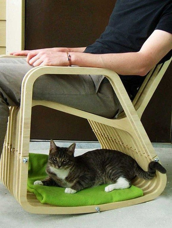 Cat space in the bottom of your chair