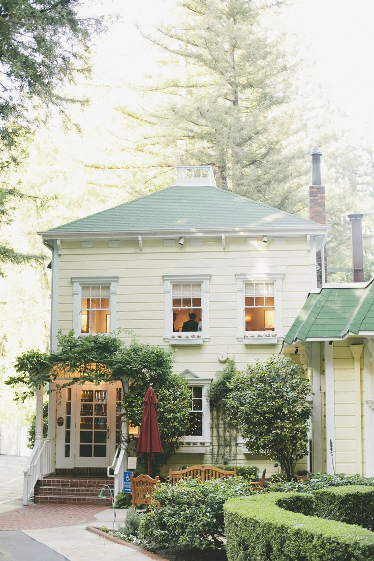 The Tavern at Lark Creek looks like a charming home with great garden elements