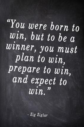 How much planning & preparation do you dedicate to 'winning'? Do you 'expect' to win, too?