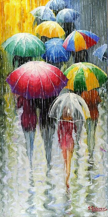 Romantic Umbrellas - Stanislav Sidorov  Cheery colors make this rainy day so fun!