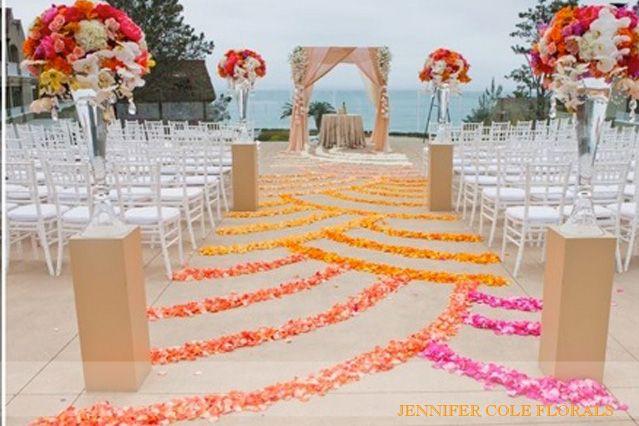 L'auberge Stunning, Rich Ombre Wedding  jennifer cole florals #ombrewedding #weddingdecor