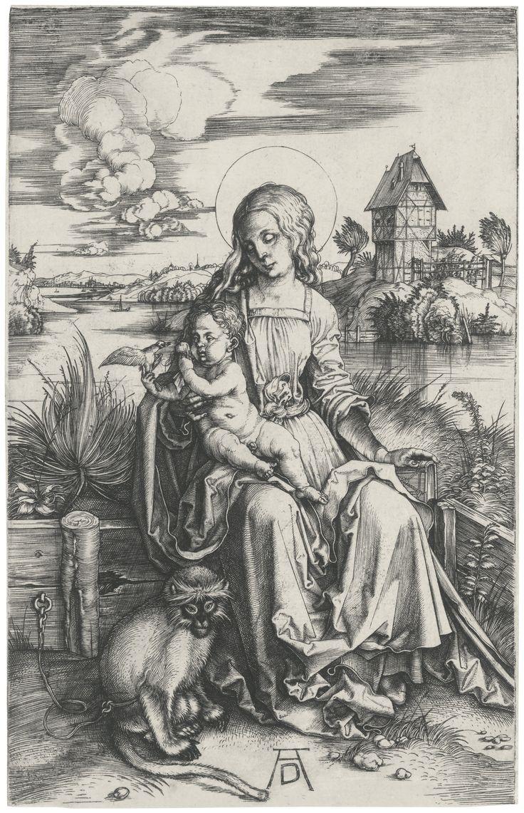 Albrecht Dürer (1471 – 1528, The Virgin and Child with the monkey (B.