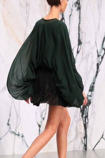see by chloé - love the drama of this deep green gauzy blouse Modetrend 2014: Blouson Jacken (Inspirationen)