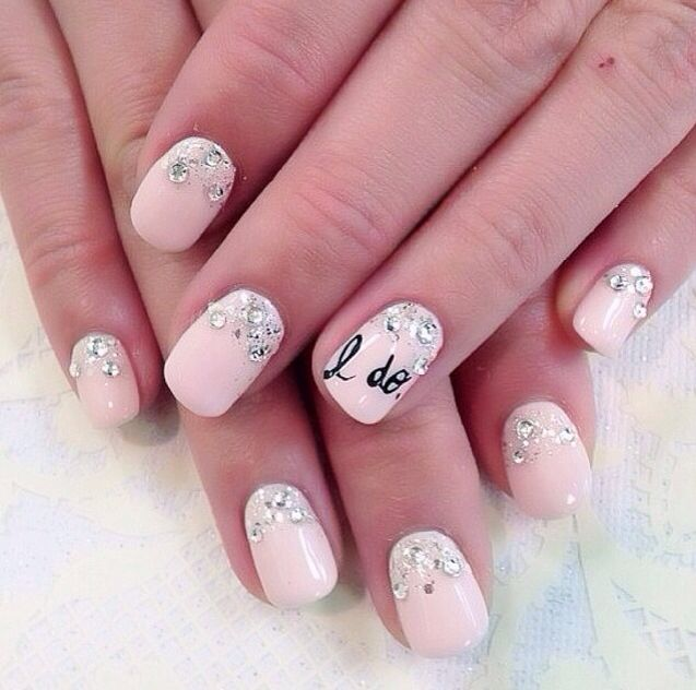 I Do Wedding Manicure- Nailed It! 12 Nail Art Designs for Your Wedding Day