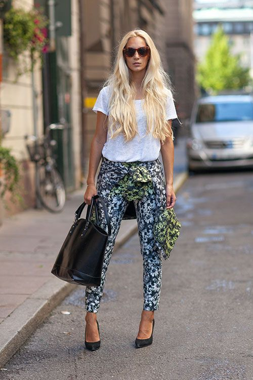 H&M tropical pattern pants / co-ords. #rasspstyle http://www.superrassspy.com/