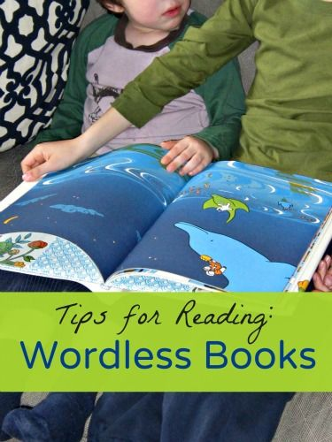 Tips for reading wordless books to kids, plus questions to ask them to encourage storytelling.