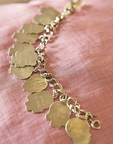 Vintage Silhouette Charm Bracelet I HAVE THESE