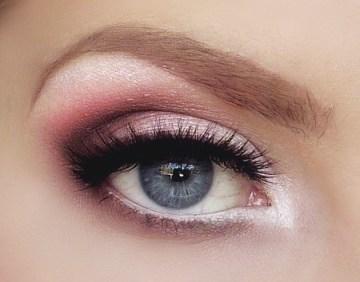 medium shades smokey eye - wedding eyes Blue instead of pink?