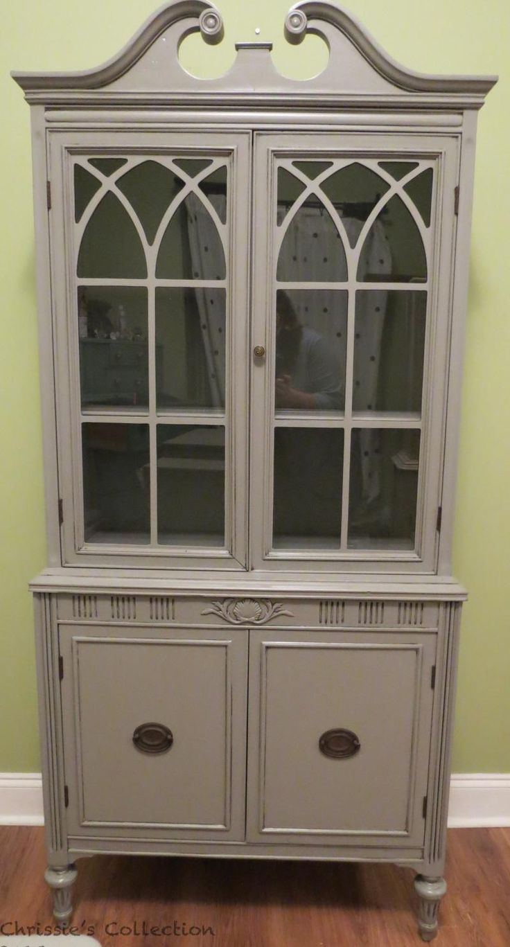painted china cabinet images - Google Search