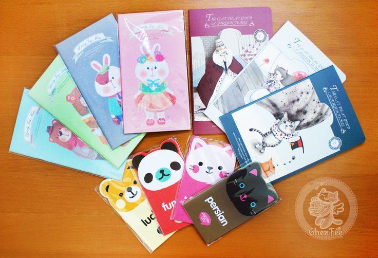 petits cahiers kawaii de la papeterie en ligne de chezfee.com
