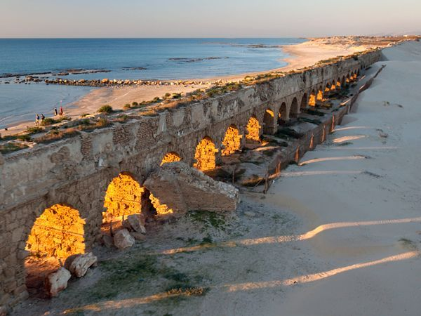 Aqueducts at Caesarea