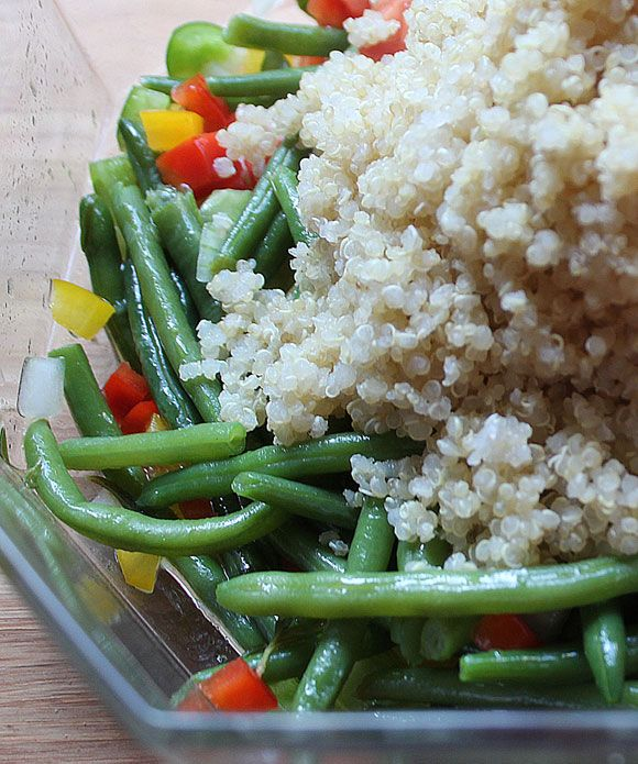 Quinoa - Bohnen Salat