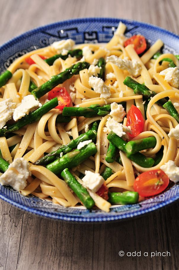 Spring Asparagus and Tomato Pasta with Feta Recipe - Cooking | Add a Pinch
