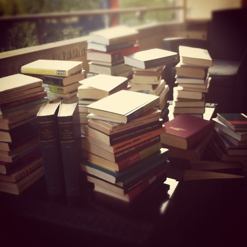 I've got a pile of books to read.