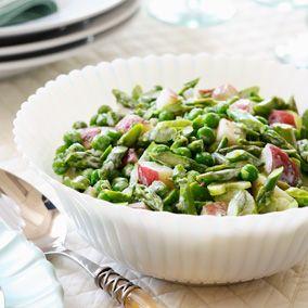 Spring Vegetable Salad Easy Easter Brunch   Easter Recipes   Hallmark, use plain Greek yogurt instead of mayo?