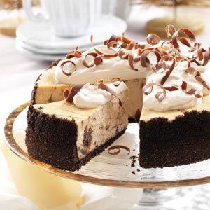 Marbled Cappuccino Fudge Cheesecake Recipe from Taste of Home -- shared by Becky McClaflin of Blanchard, Oklahoma