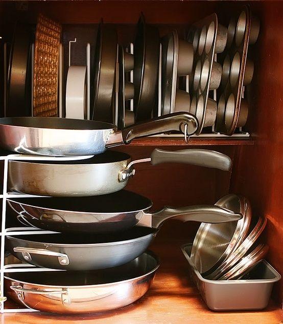 cool kitchen pots and pans storage ideas kitchen ideas pinterest on kitchen organization pots and pans id=79817