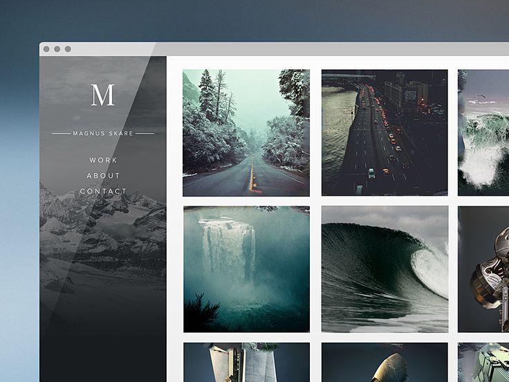 Personal Portfolio Concept by Magnus Skare