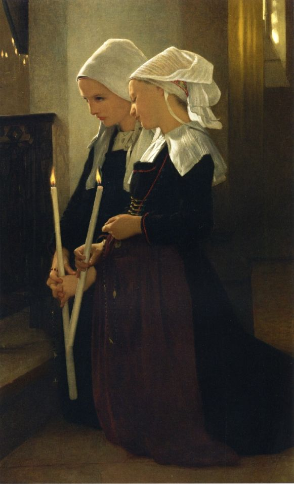 Prayer at Sainte-Anne-d'Auray, William Adolphe Bouguereau. French Academic Painter (1825-1905)