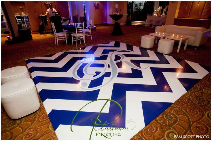 blue-and-white-chevron-graphics-custom-seamless-dance-floor-wedding-la-valencia-hotel-la-jolla-emily-smiley-wedding-planner
