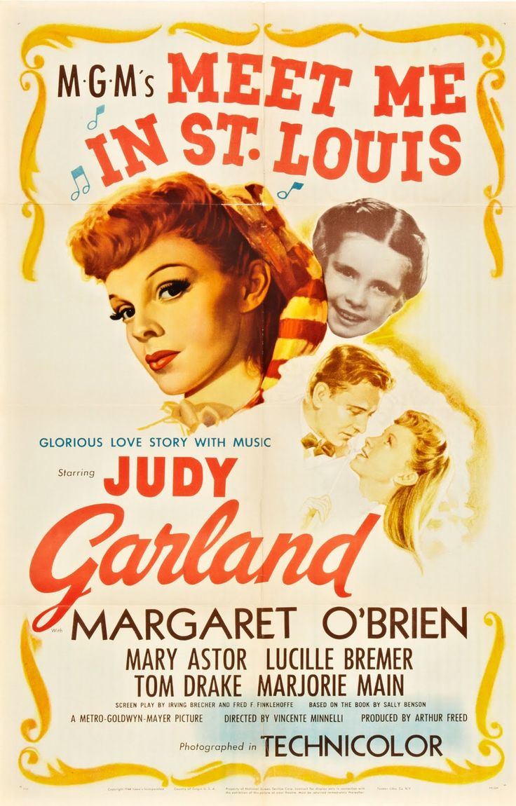 Number 10 on the AFI List of Best Movie Musicals - Meet Me in St. Louis starring Judy Garland