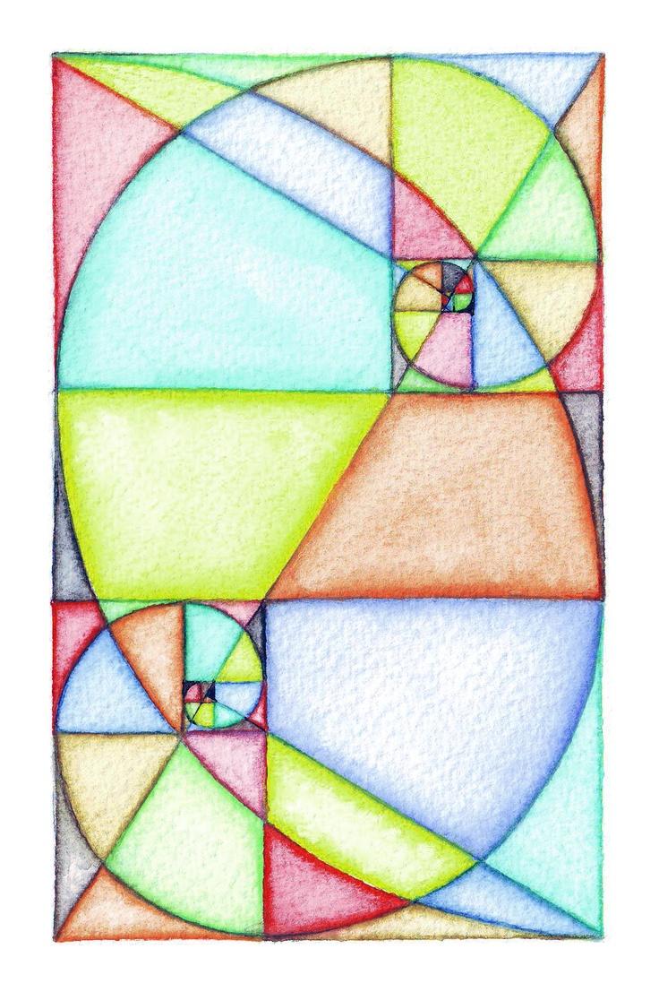Fibonacci_Spiral_Art ~ love the overlapped spirals .....