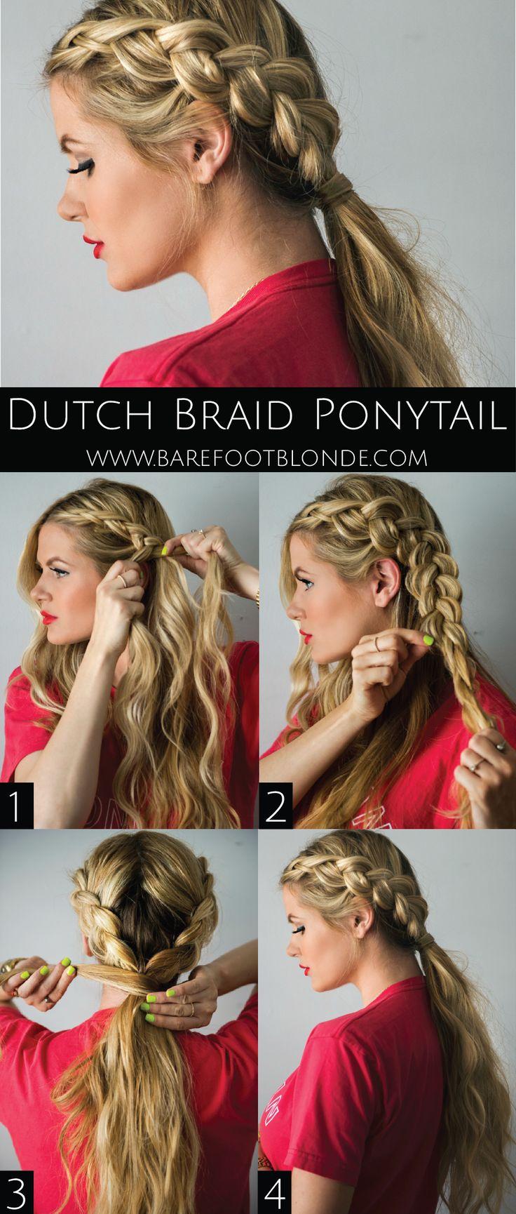 DIY | Dutch Braid Ponytail Tutorial //Barefoot Blonde