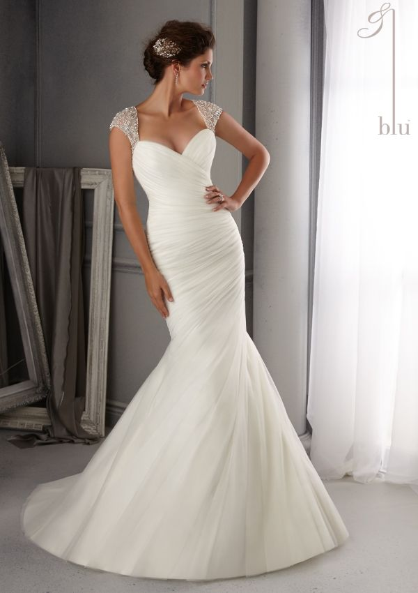 "NEW IN!!!! ""Scarlett"" bridal dress from Blu by Mori Lee Dress Style 5270 Intricate Crystal Beading Design on Soft Net"
