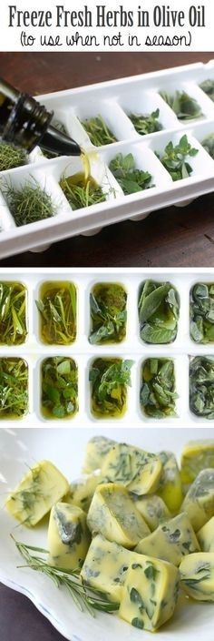 33. Freeze Your Herbs in Olive Oil to Keep them Year Round | 42 Clever Food Hacks That Will Change Your Life