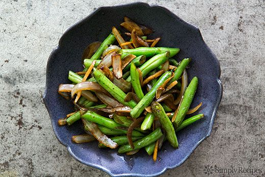 Stir Fried Green Beans with Ginger and Onions on Simply Recipes