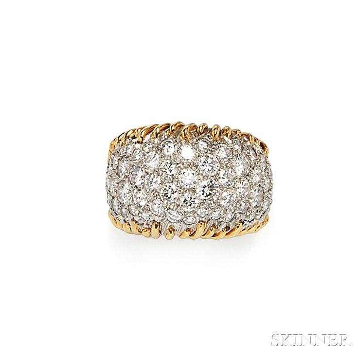 "18kt Gold and Diamond ""Stitches"" Ring, Schlumberger, Tiffany & Co. 