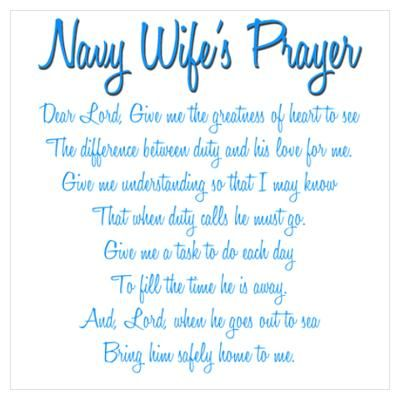Navy Wife's Prayer Poster