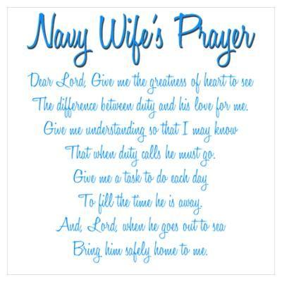 Navy Wife's Prayer Poster