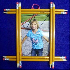 Pencil Picture Frame  Great for those 1st day of school memories!