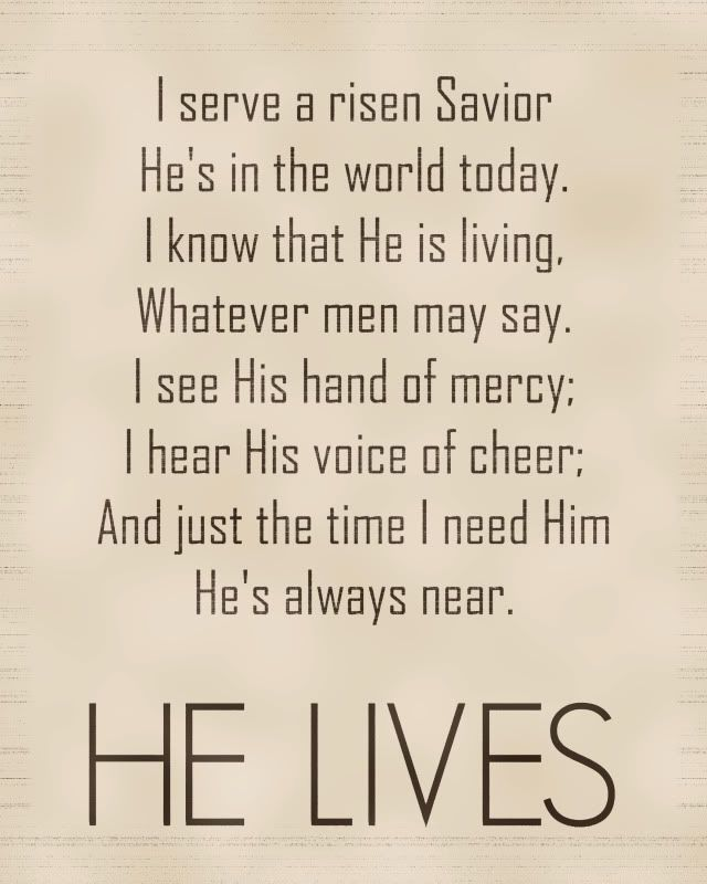 He Lives.  Easter printable.  Feel free to download and print as an 8x10. by dominique