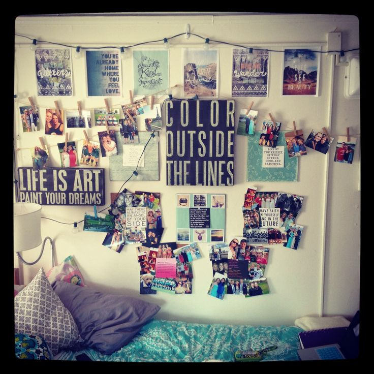 Dorm room decorating idea