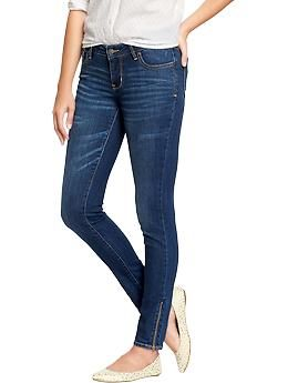 Women's The Rockstar Ankle-Zip Jeans | Old Navy