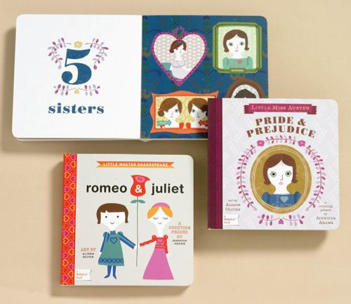 """Toddler's Pride and Prejudice counting book...""""One English village; two rich gentlemen—Mr. Bingley and Mr. Darcy; three houses—Longbourn, Netherfield, and Pemberly…"""""""